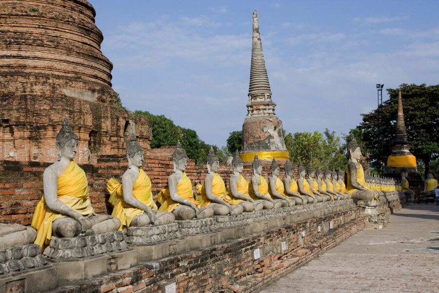 Thailand Ayutthaya Tempel Boeddha