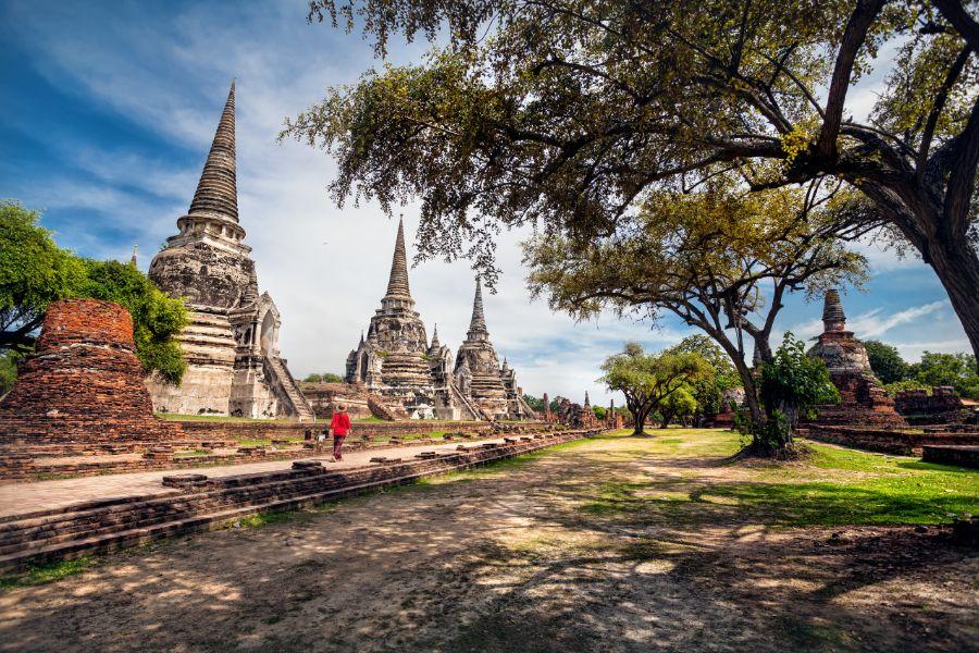 Thailand Ayutthaya Wat Sri Sanphet boeddhistische tempel