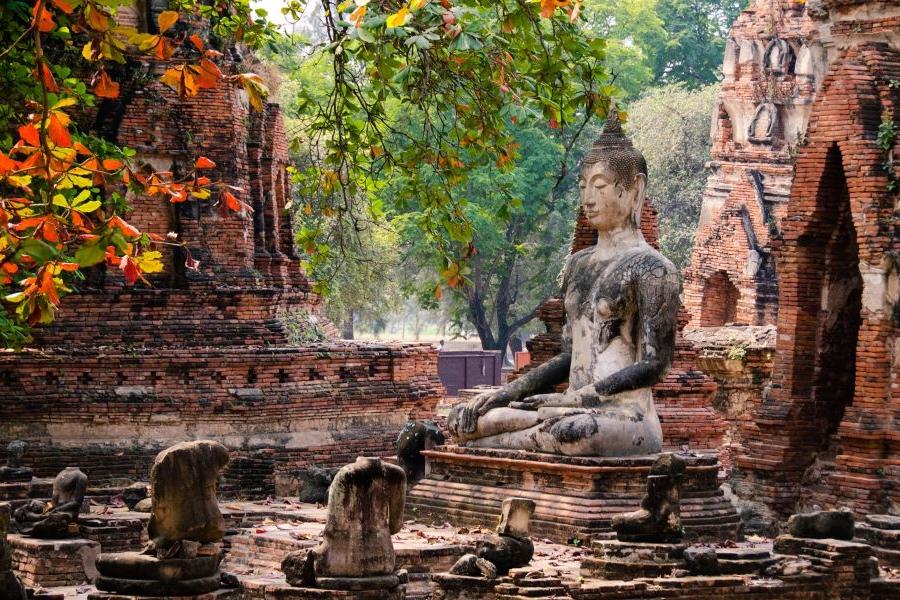 Thailand Ayutthaya tempel ruine