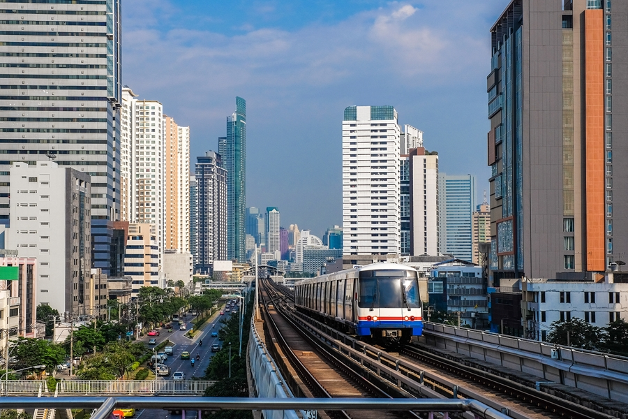 Thailand Bangkok Bangkok Train System Skytrain traffic