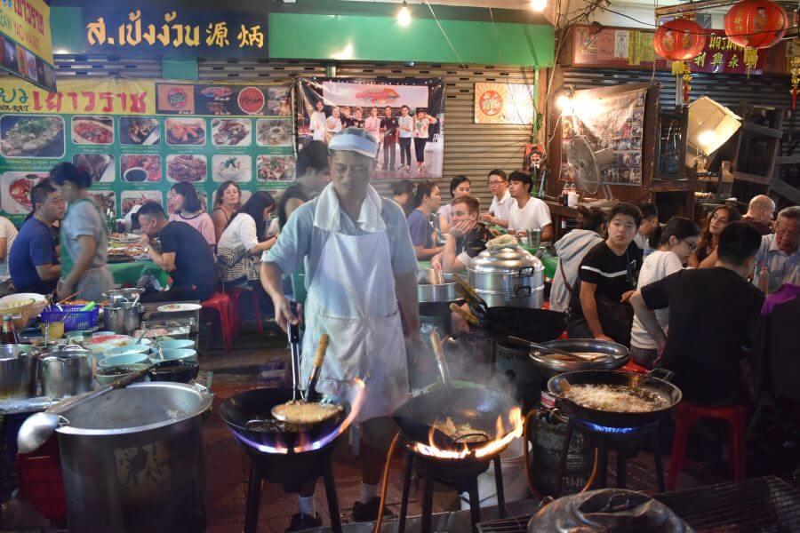 Thailand Bangkok Foodtour per tuktuk Chinatown