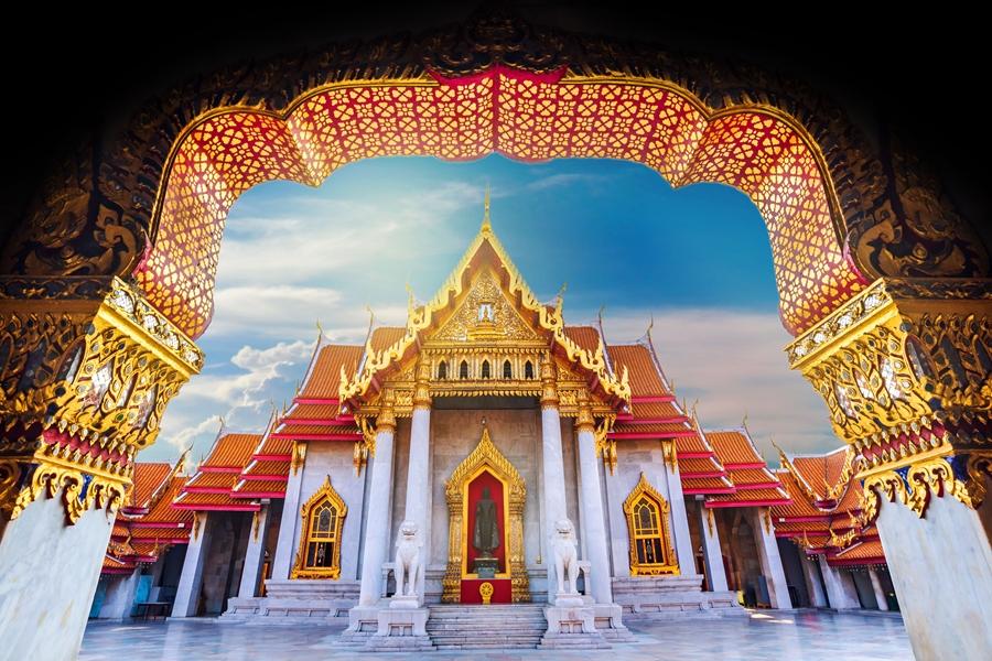 Thailand Bangkok Marble temple