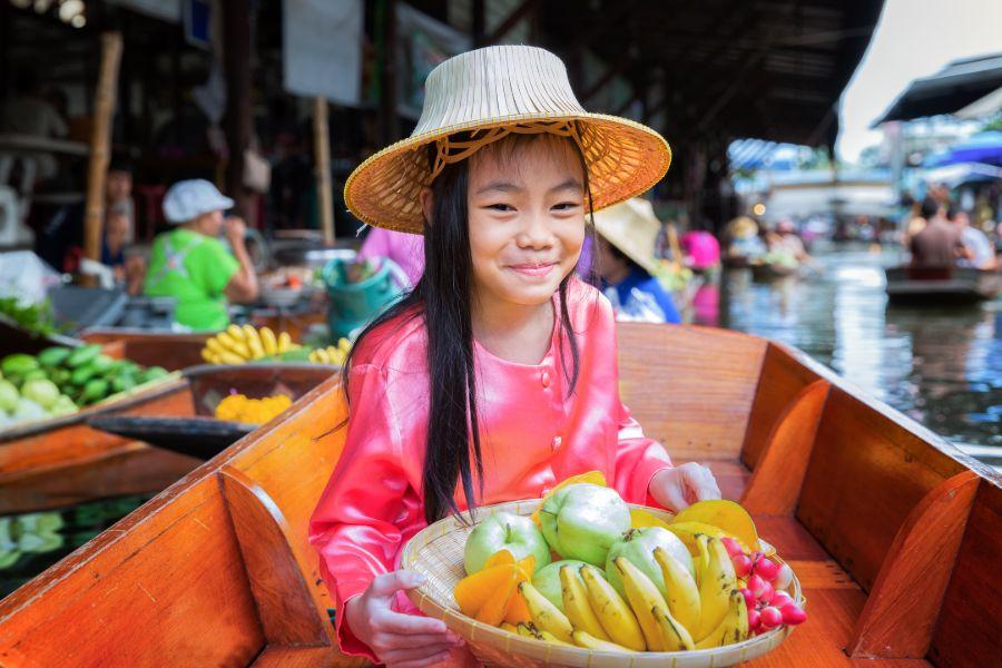 Dag 4: Bangkok – Drijvende Markt – Kanchanaburi