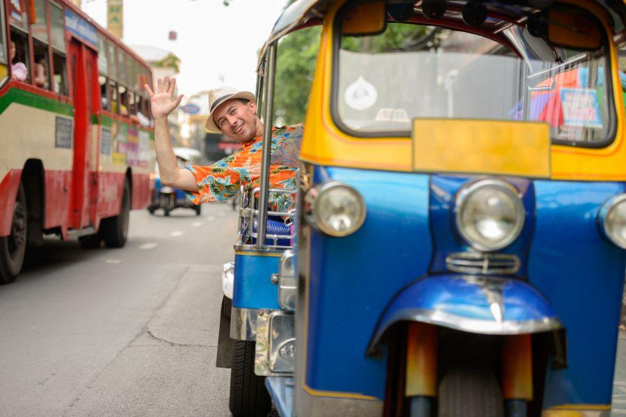 Thailand Bangkok Toerist in TukTuk