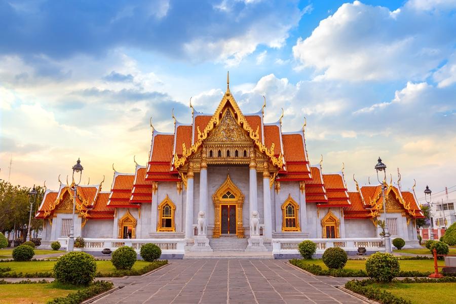 Thailand Bangkok Wat Benchamabophit