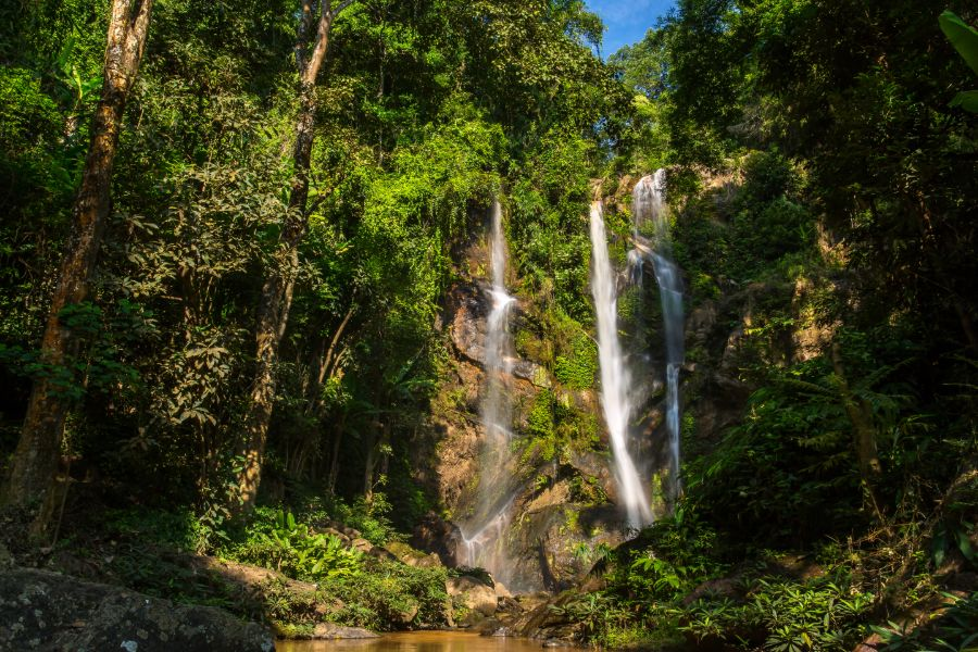 Thailand Chiang Mai Noorden Mok Fa waterfall