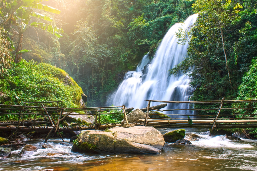 Thailand Chiang Mai Pha Dok Siew waterval