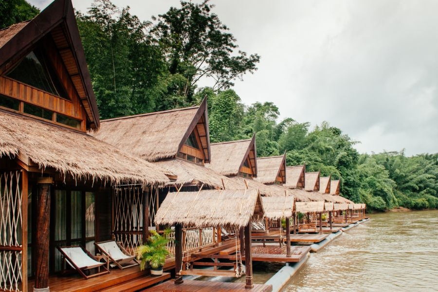 Thailand Kanchanaburi River Kwai Jungle Rafts