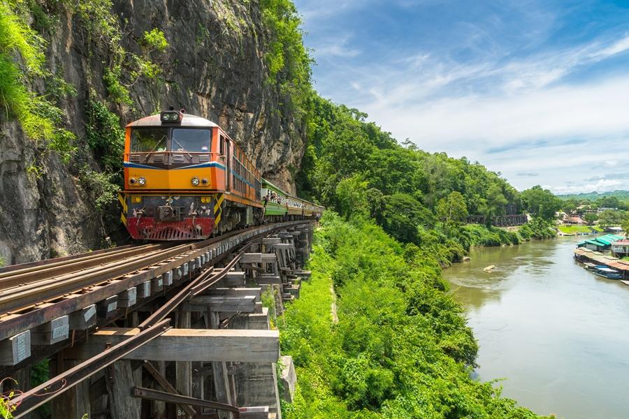 Thailand Kanchanaburi trein