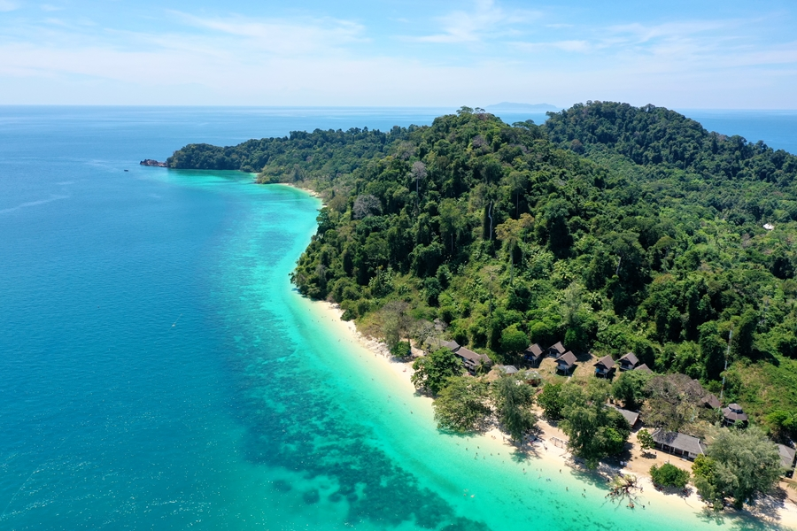 Thailand Koh Kradan bovenaanzicht op eiland
