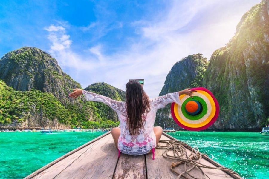 Thailand Koh Phi Phi Dame op boot