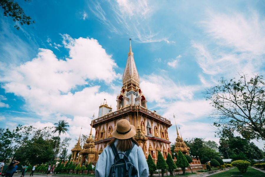 Thailand Phuket What Chalong populairste tempel