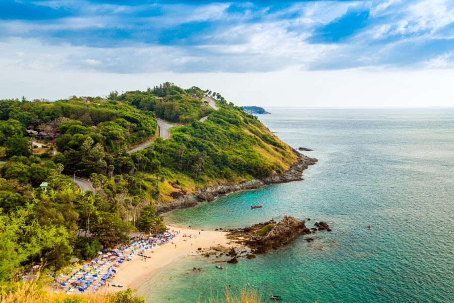 Thailand Phuket uitzicht op Kata Beach