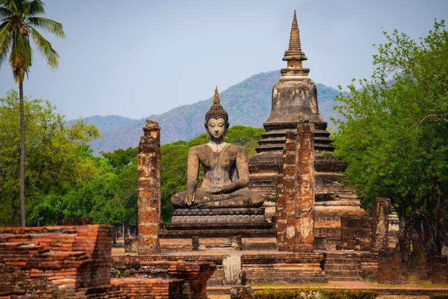 Thailand Sukhothai Wat Mahathat Buddha