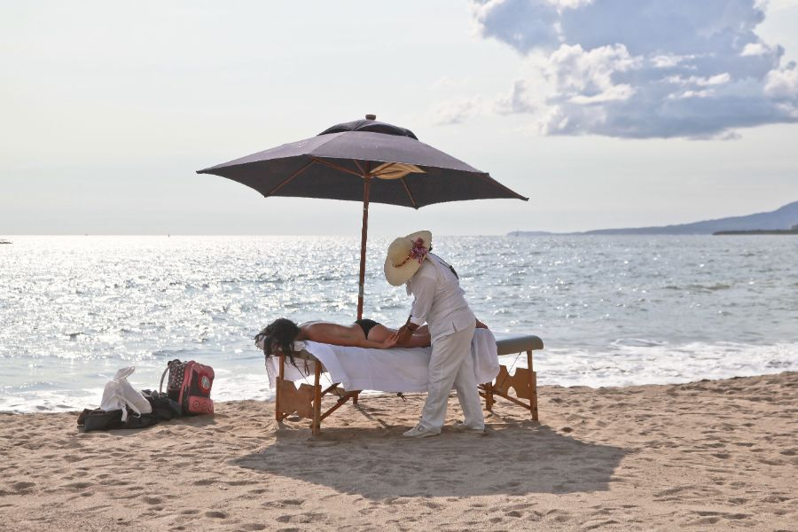 Thailand beach massage relax
