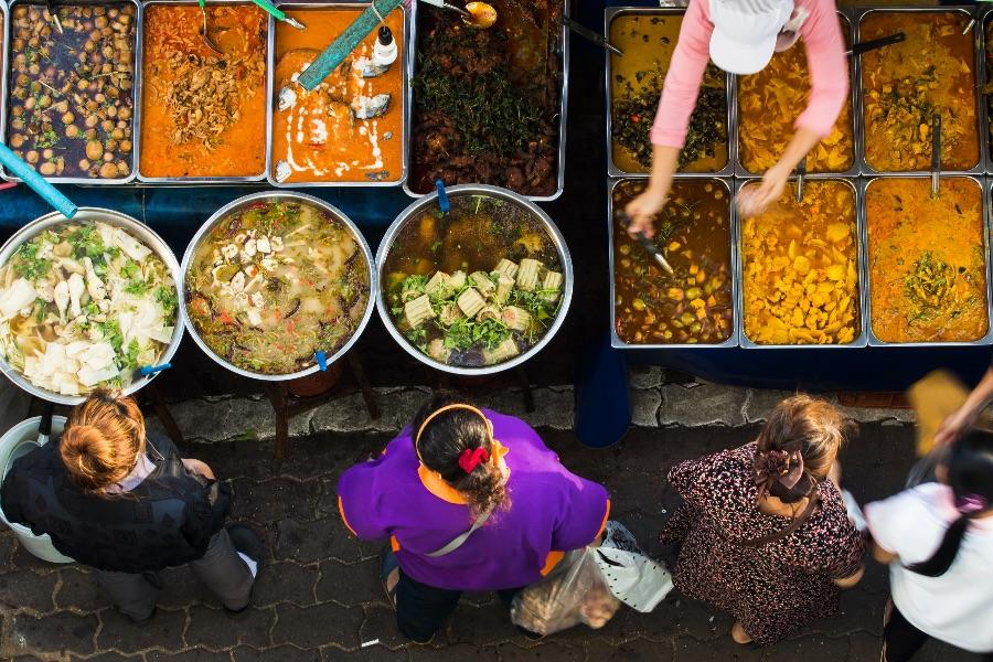 Thaise food markt