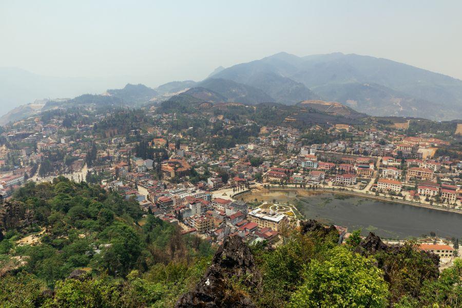 Vietnam Sapa landschap stad bergen