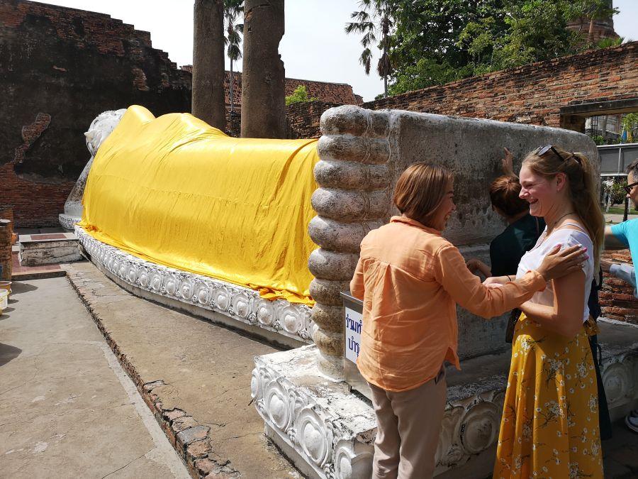 Ayutthaya Eco boerderij Garnalen Vissen Boeddha