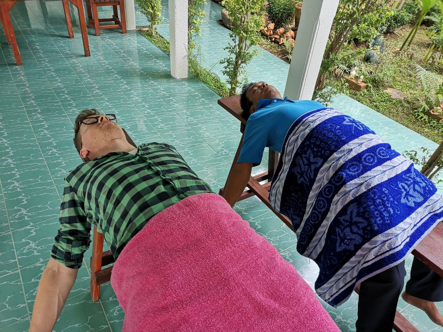 Ayutthaya Eco boerderij Garnalen Vissen massage