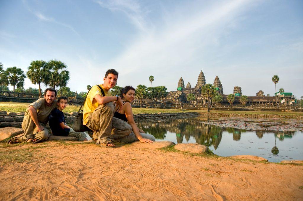 Cambodja Angkor Wat met familie