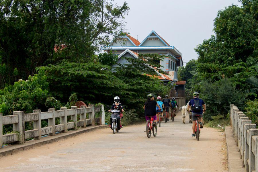Cambodja Phnom Penh Mekong eilanden fietsen fietstour