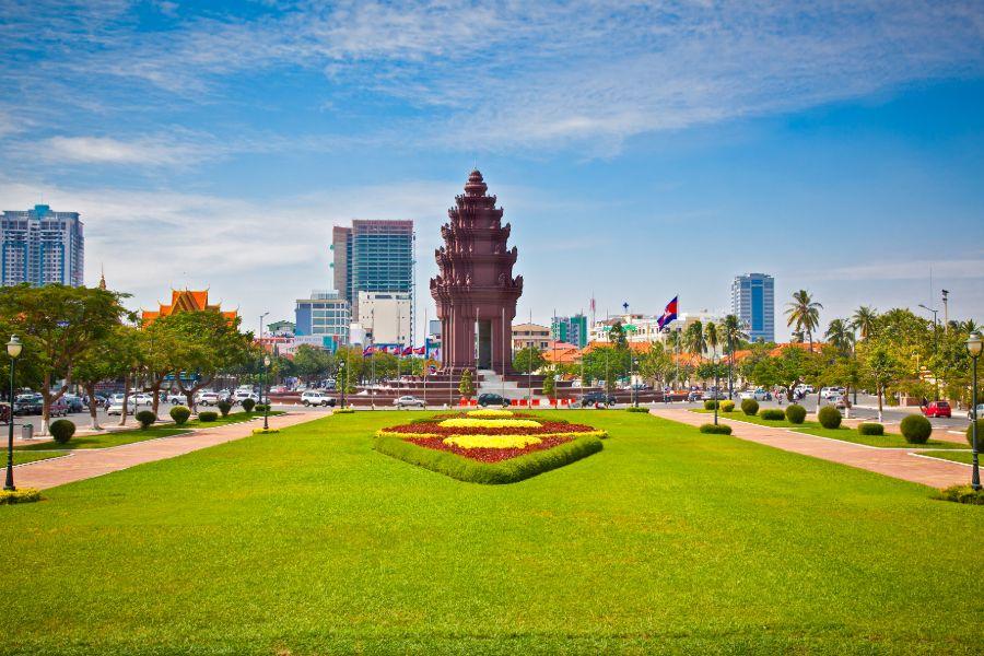 Cambodja Phnom Penh centrum onafhankelijkheidsmonument vimean ekareach