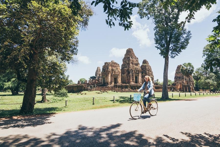 Cambodja Siem Reap Angkor Wat fietsen 5