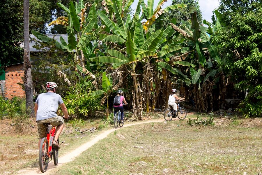 Cambodja Siem Reap Angkor Wat fietsen