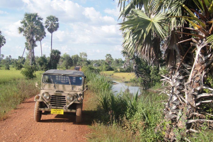 Cambodja Siem Reap jeeptour jeep Platteland Lokaal Leven avontuur