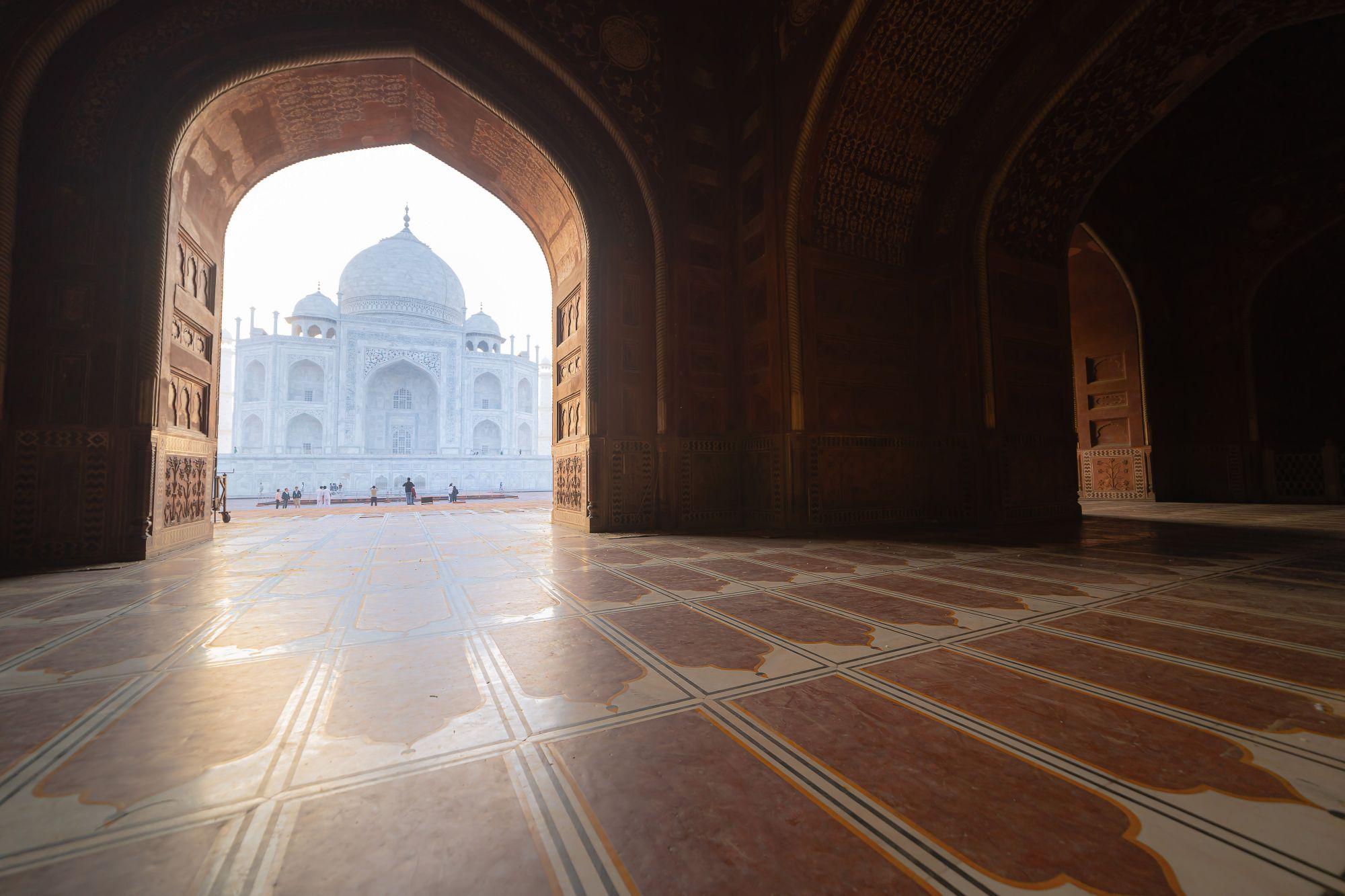 India Taj Mahal met doorkijk