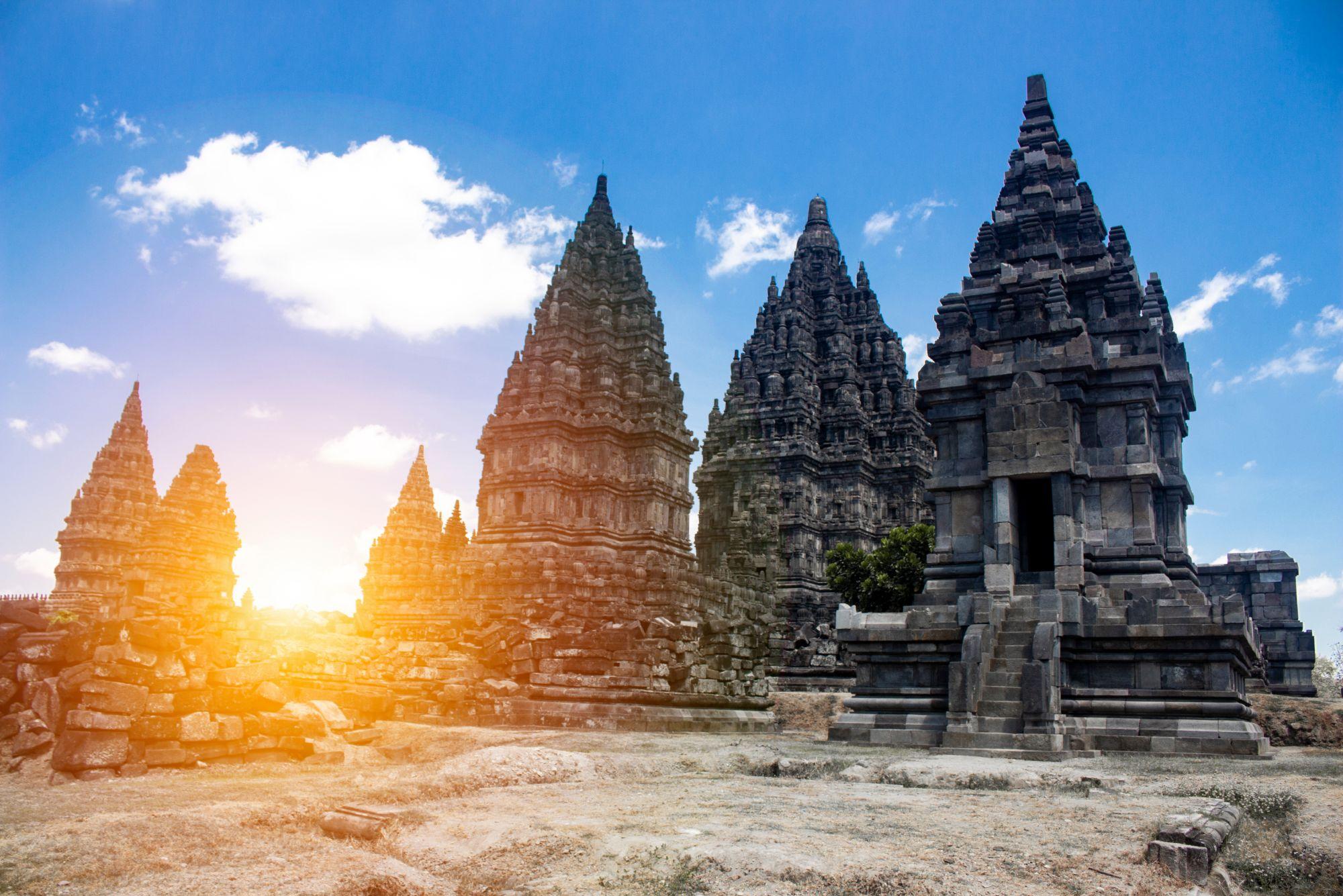 Indonesie Java Jogjakarta Prambanan tempel