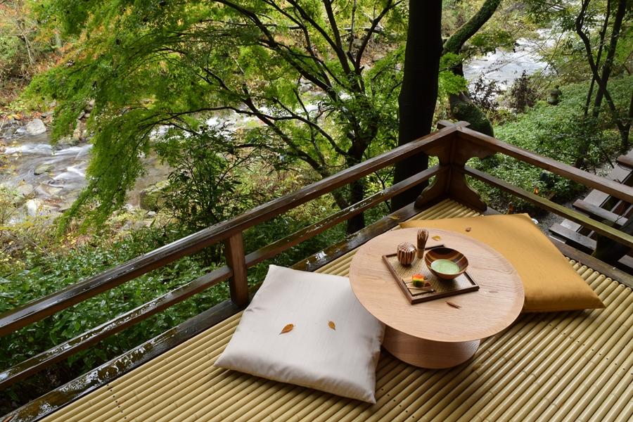Japan Hakone Thee in de natuur