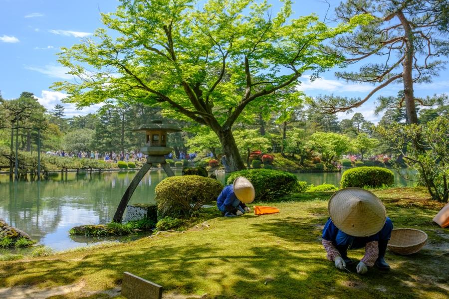 Japan Kanazawa Park met meer