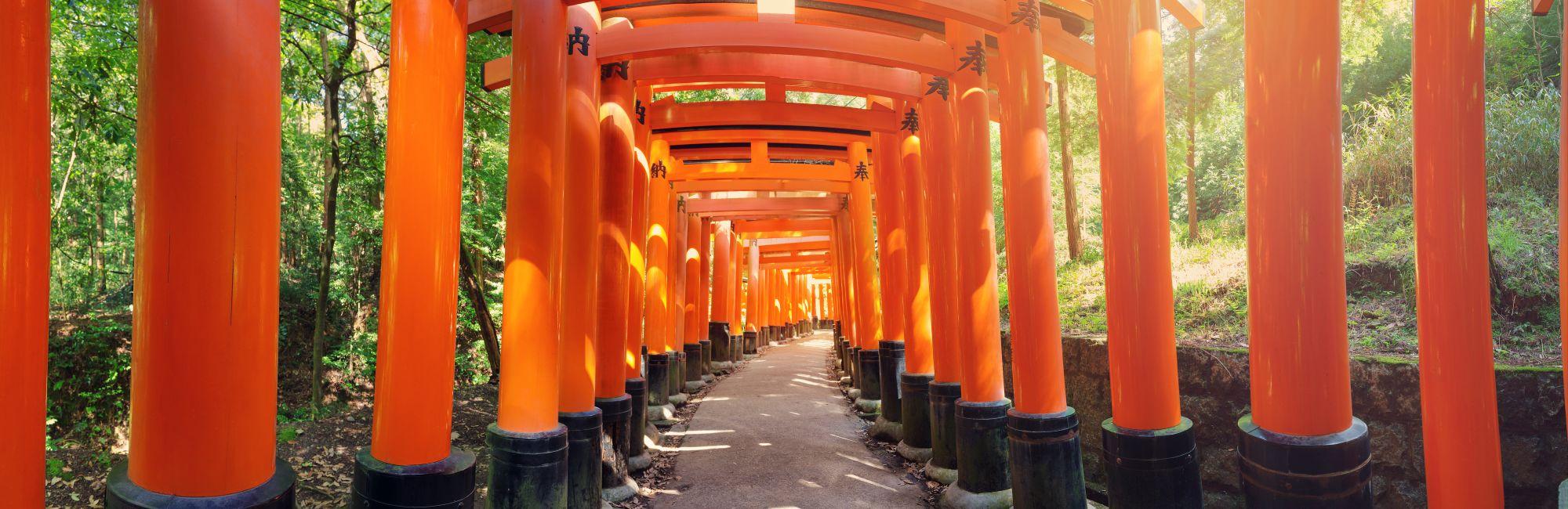 Japan Kyoto Fushimi Inari Shrine Torii gates
