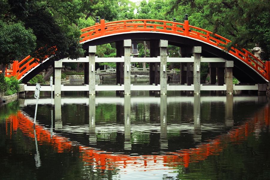 Japan Osaka Rode brug
