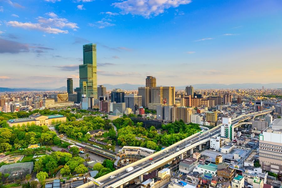 Japan Osaka Stad uitzicht