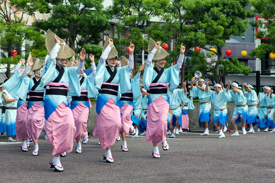 Japan Tukoshima Locals dansen