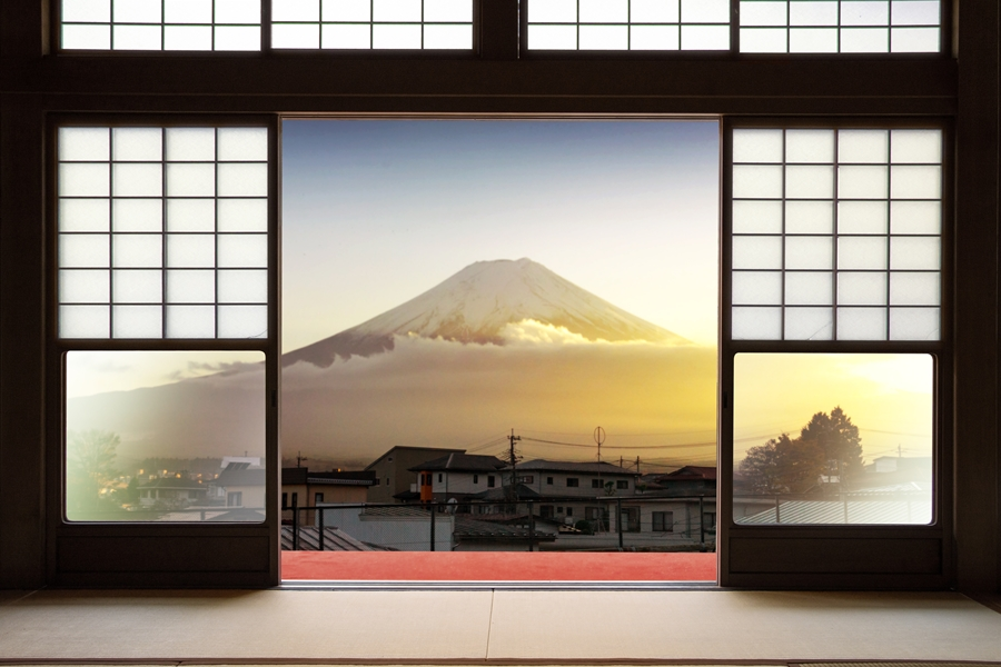 Japan ryokan met Mount Fuji