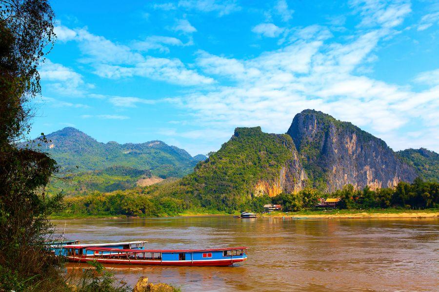 Laos Luang Prabang Shompoo Cruise Houay Xay Mekong rivier