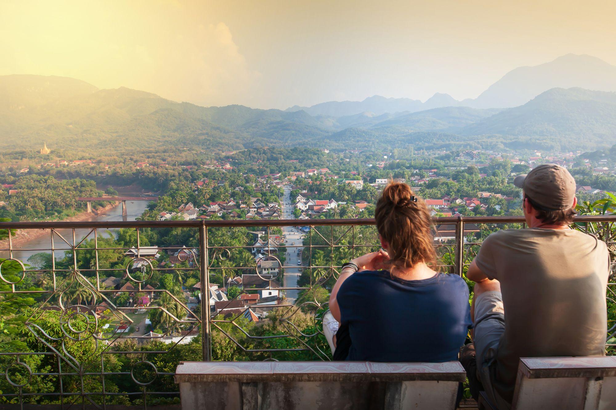 Laos Luang Prabang uitzicht op de stad