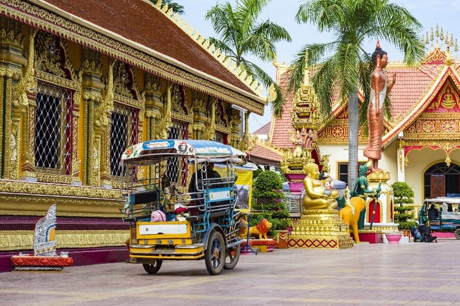 Laos Vientiane tuk tuk
