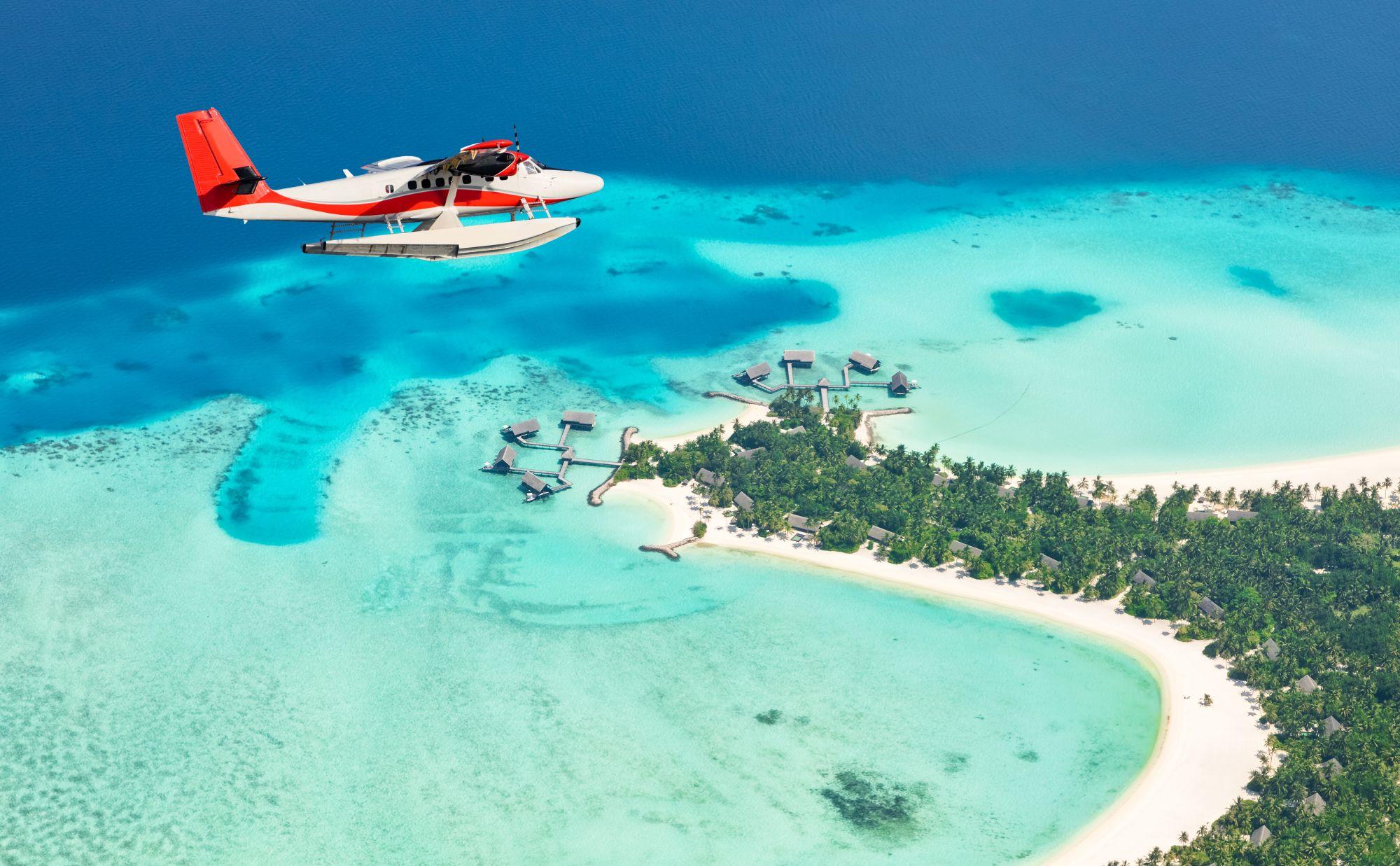 Malediven watervliegtuig
