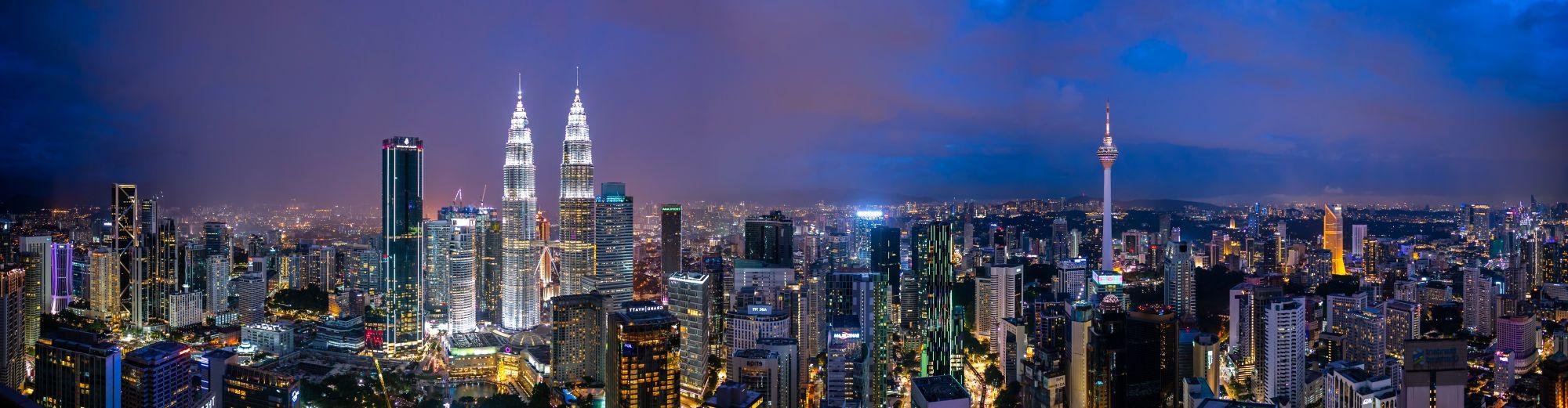 Maleisie Kuala Lumpur panorama