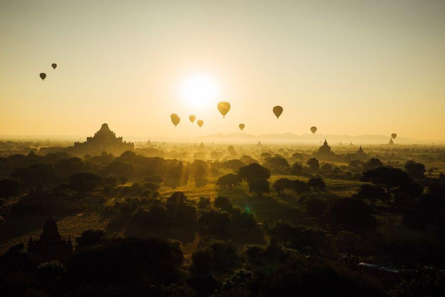 Myanmar Bagan Balloonvlucht 02