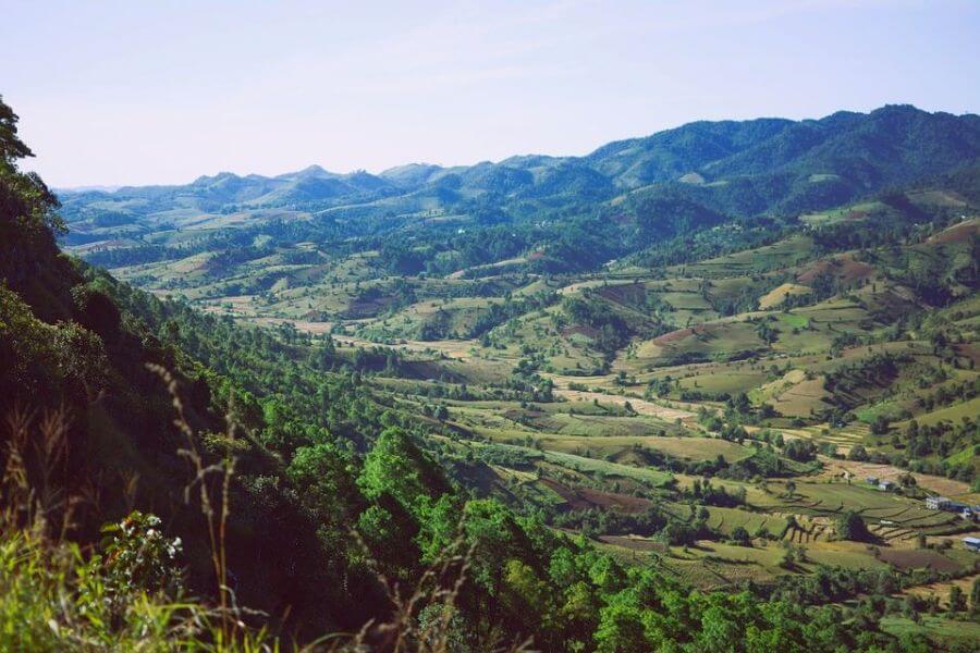 Myanmar Kalaw trekking met prachtige uitzichten