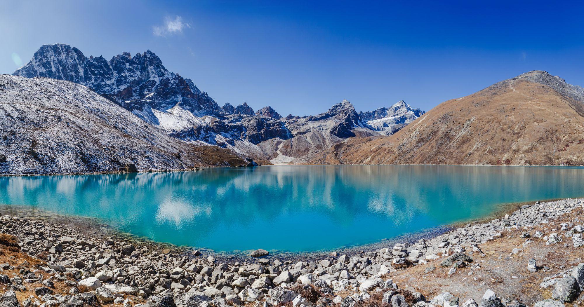 Nepal Himalayas Gokyo Lake meer
