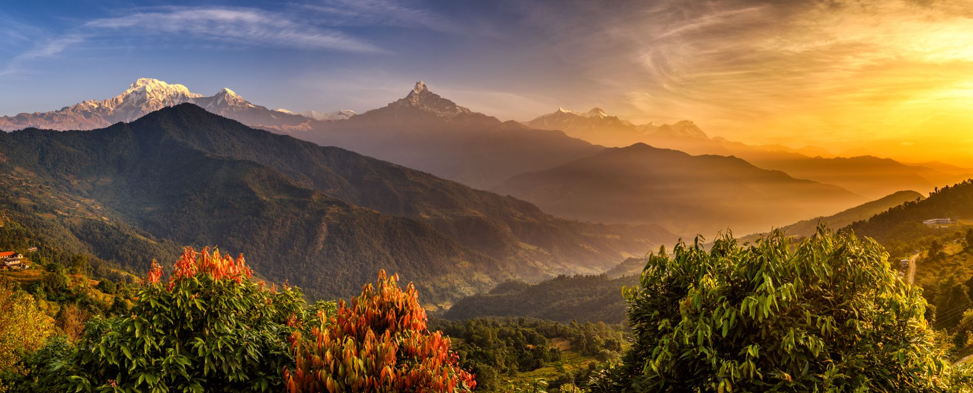 Nepal Pokhara Himalaya gebergte