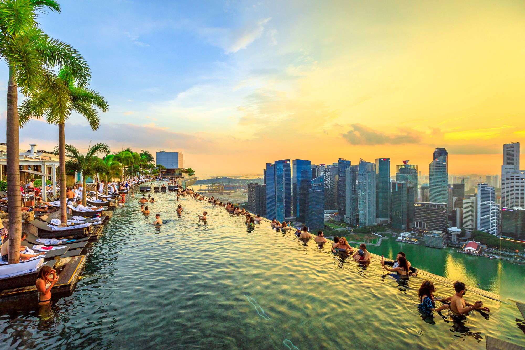 Singapore Infinity Pool Marina Bay Sands hotel