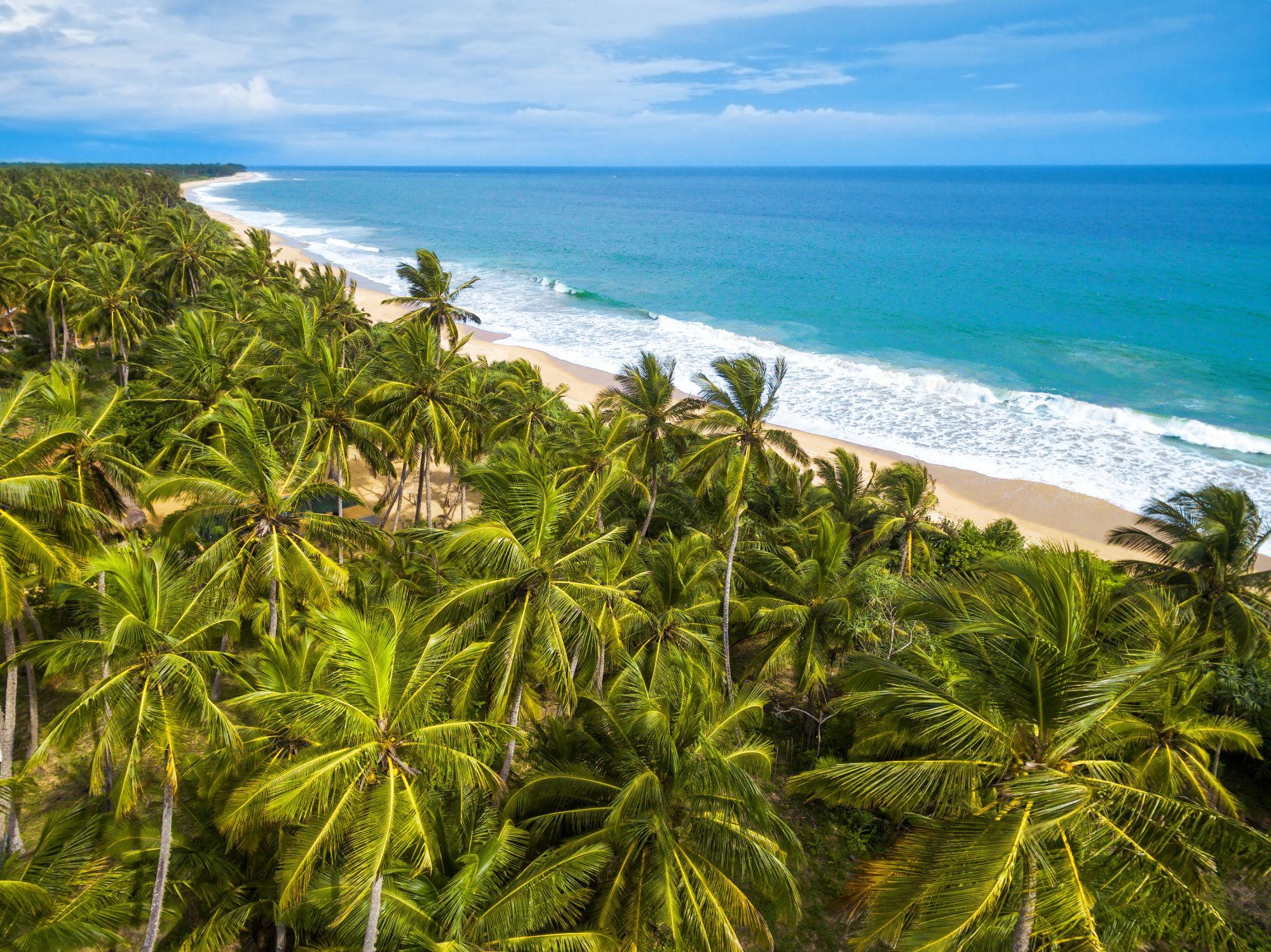 Sri Lanka ruig strand