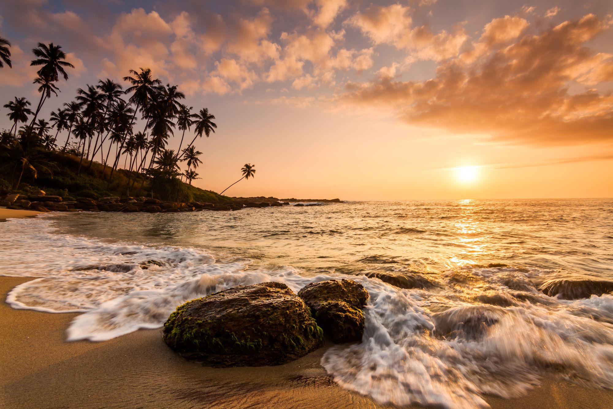 Sri Lanka strand zonsondergang